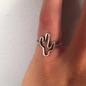 Jewelry - Silver Cactus Pinky Ring